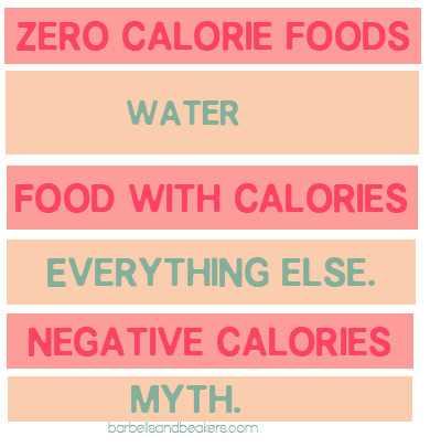 Negative calorie and zero calorie foods don t exist for Cuisine 0 calorie